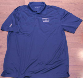 Mens Golf Shirt -Blue Image